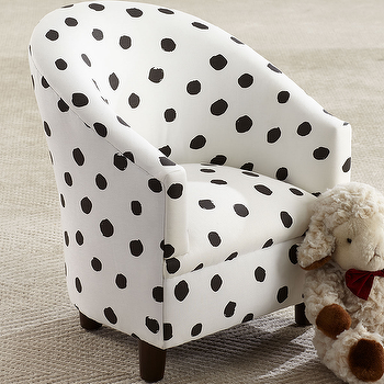 Horchow Kidu0027s Corina Polka Dot Chair View Full Size