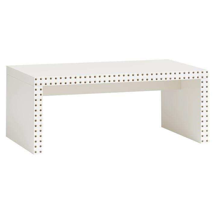 Nate Berkus Leather Studded Table At Hsn Com