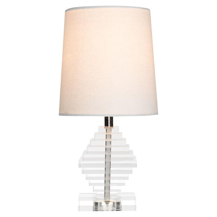 Acrylic Diamond Shaped Tiered Table Lamp