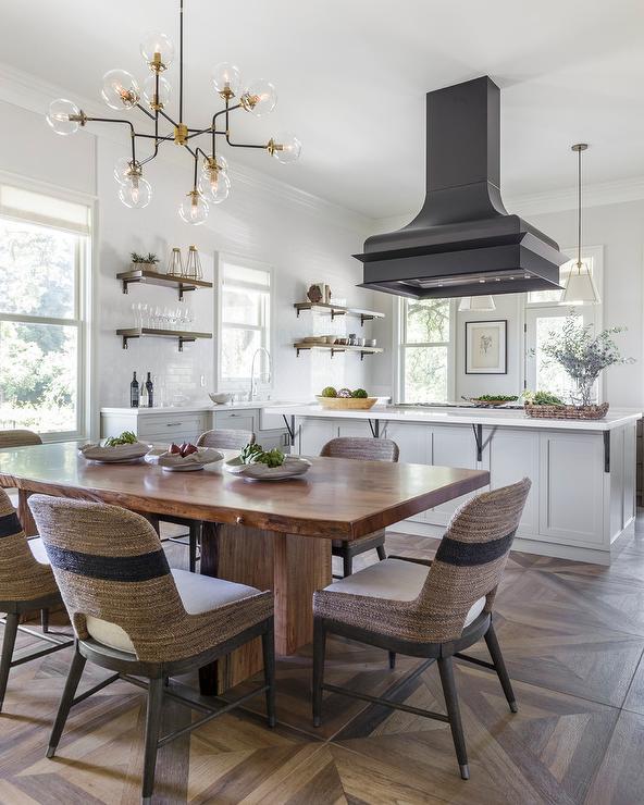 Parquet Top Dining Table Design Ideas