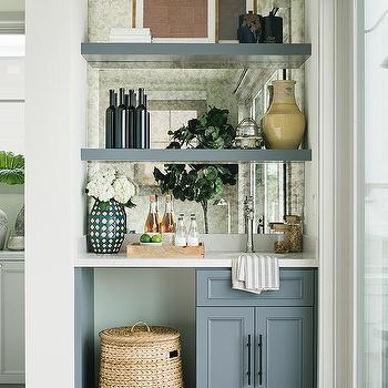 Wet Bar Floating Shelves Design Ideas