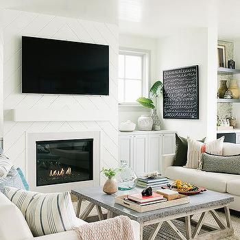 Shiplap Fireplace Wall Design Ideas