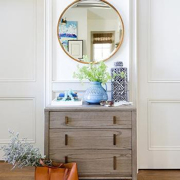 mirror over foyer dresser design ideas