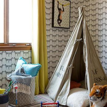 Sissy And Marley Zee Wallpaper With Vintage Army Teepee