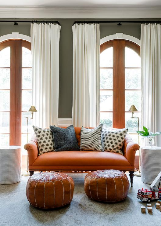 Orange And Gray Living Room Design Ideas