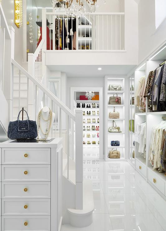 Two Story Glam Walk In Closet