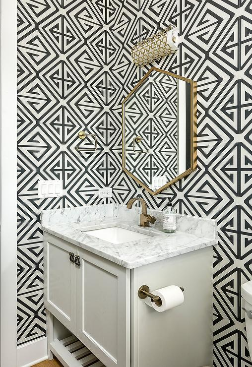 Black And Gold Geometric Wallpaper Design Ideas