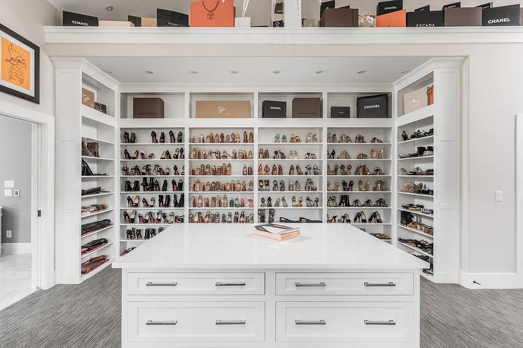U Shaped Custom Shoe Shelves