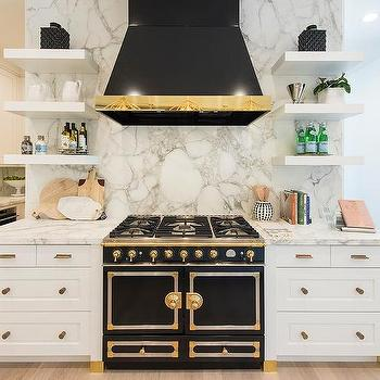 Black Kitchen Hood With Gold Trim Design Ideas