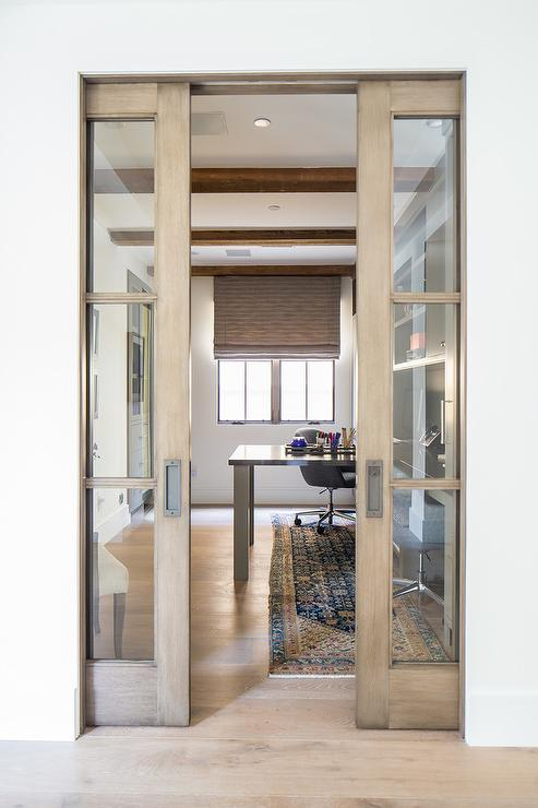 Wood And Glass Pocket Office Doors