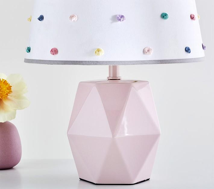 Pink Geo Ceramic Lamp Base