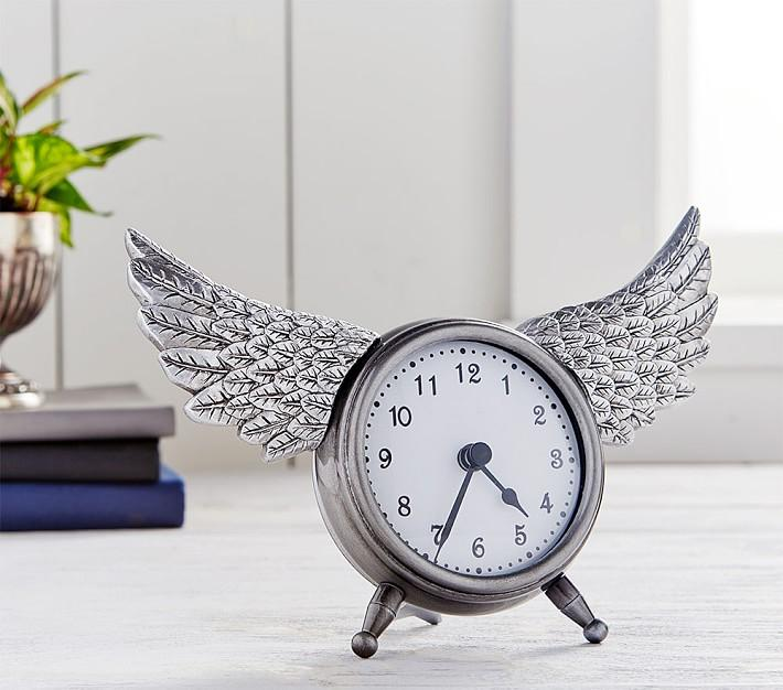 Junk Gypsy Wings Silver Metal Clock Good Ideas