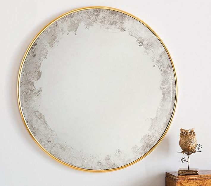Perfect Monique Lhuillier Round Brass Mirror IA21