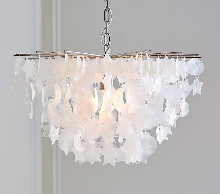 Star moon tiered capiz chandelier aloadofball Image collections