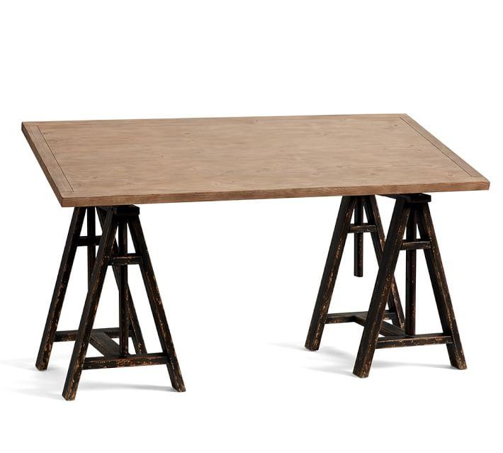 Francisco Tilt Top Wood Steel Draft Desk