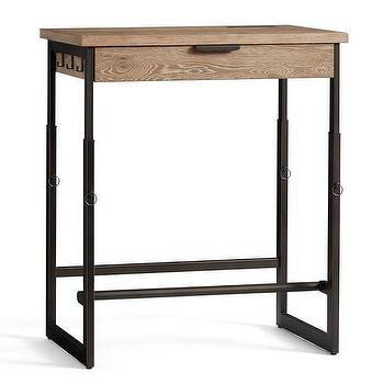 Wood And Metal Shelved Asher Desk