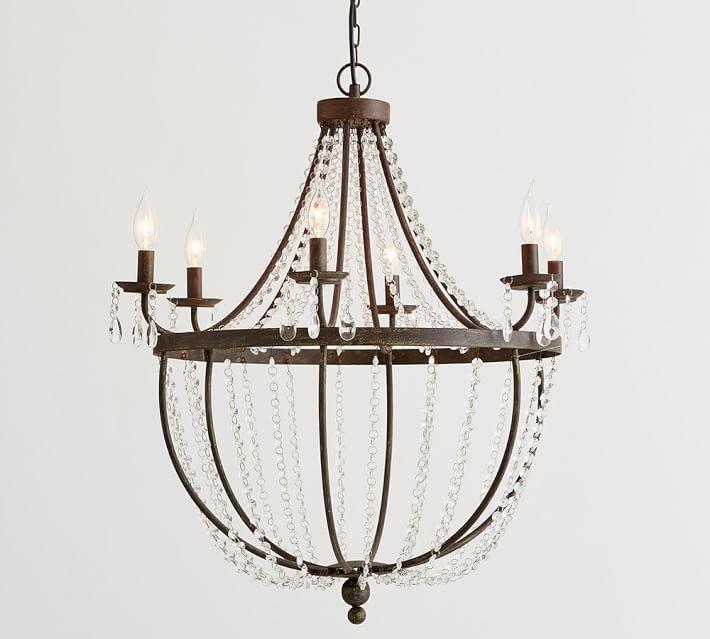 Quinn bronze iron crystal chandelier aloadofball Gallery
