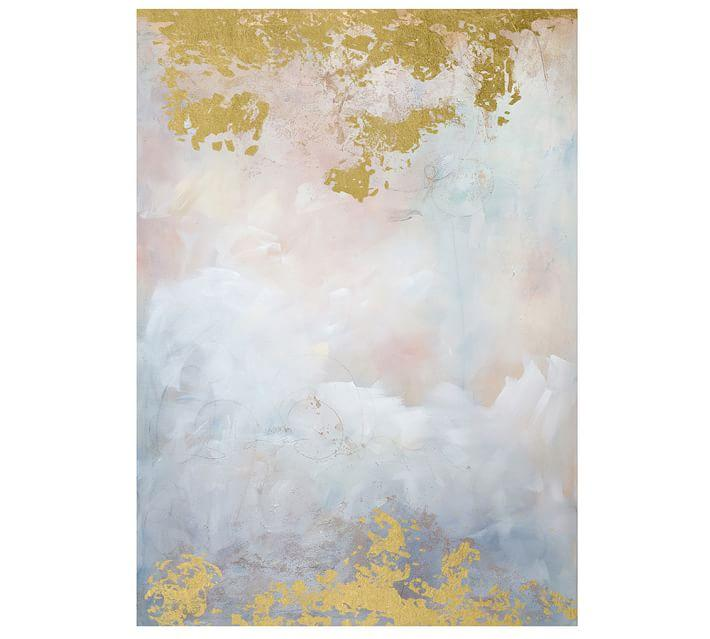 Amethyst Purple Gray Abstract Dream Painting
