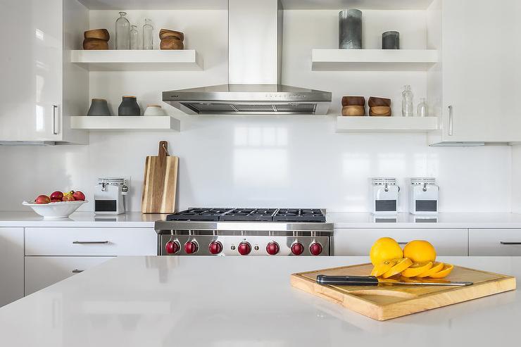 Tiled Floating Shelves Kitchen