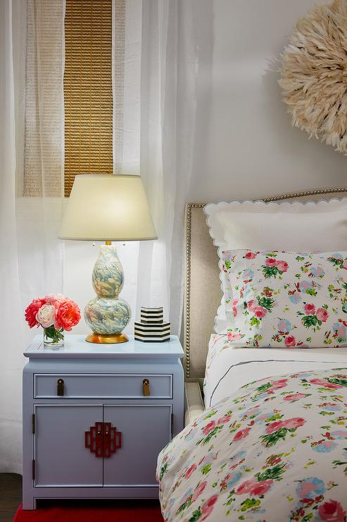 more photos 648c7 4adea Gray Chinoiserie Cabinet as Nightstand - Transitional - Bedroom