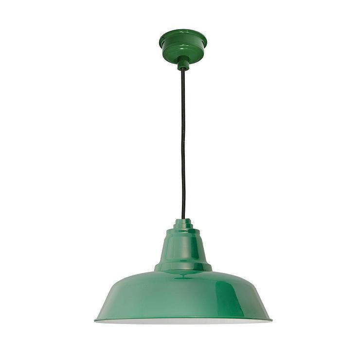 Goodyear vintage green led pendant light aloadofball Choice Image