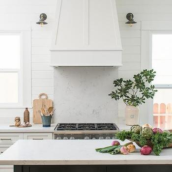 Katie denham interiors · white quartz cooktop backsplash that looks like marble