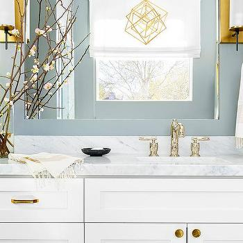 Bathroom Cherry Blossom Branches Design Ideas