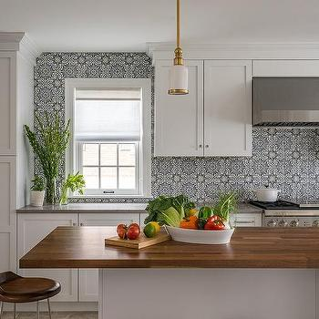 Metropolitan Cabinets And Countertops · White And Blue Mosaic Moroccan Tiles