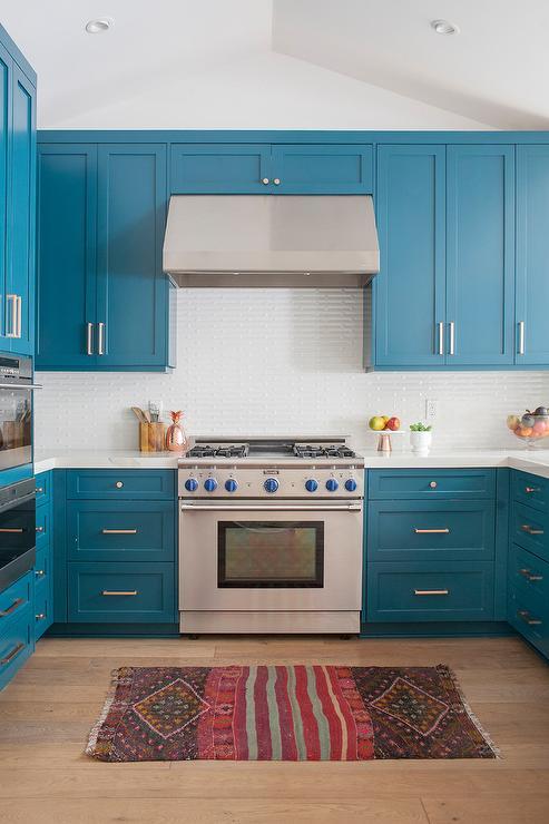 Tropical Blue Kitchen Colors Transitional Kitchen