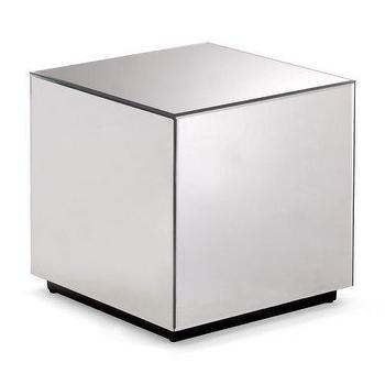 Strand Silver Mirrored Side Cube Table