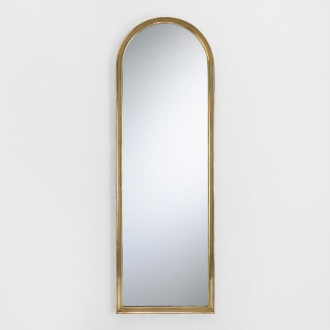 Palladio Arched Wood Frame Wall Mirror