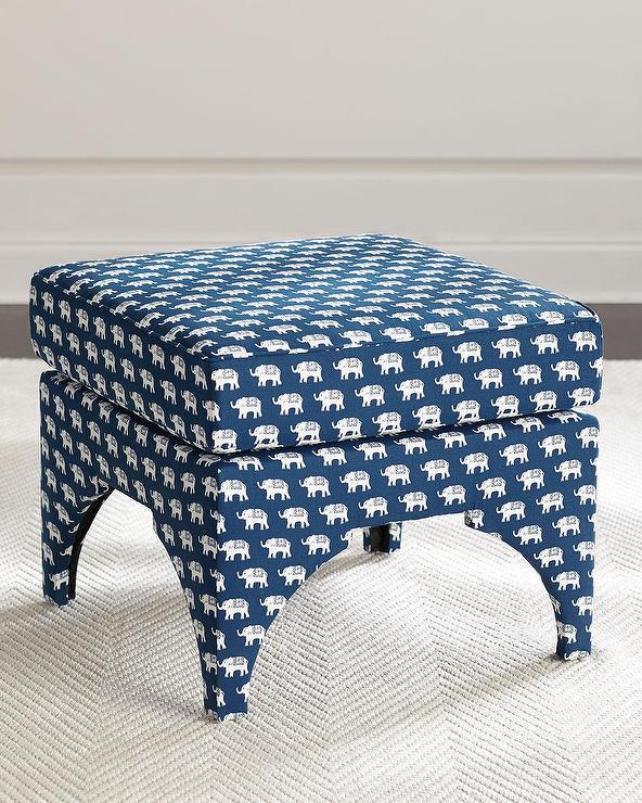 Enjoyable Emery Navy Elephant Pillow Top Ottoman Ibusinesslaw Wood Chair Design Ideas Ibusinesslaworg