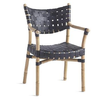 Marvelous Canyon Black Leather Rattan Chair Products Bookmarks Evergreenethics Interior Chair Design Evergreenethicsorg
