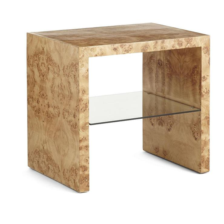 Oslo Burl Wood Veneer Side Table
