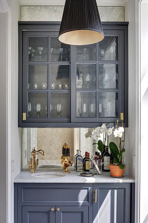Dark Gray Cabinets With Light Gray Backsplash Design Ideas