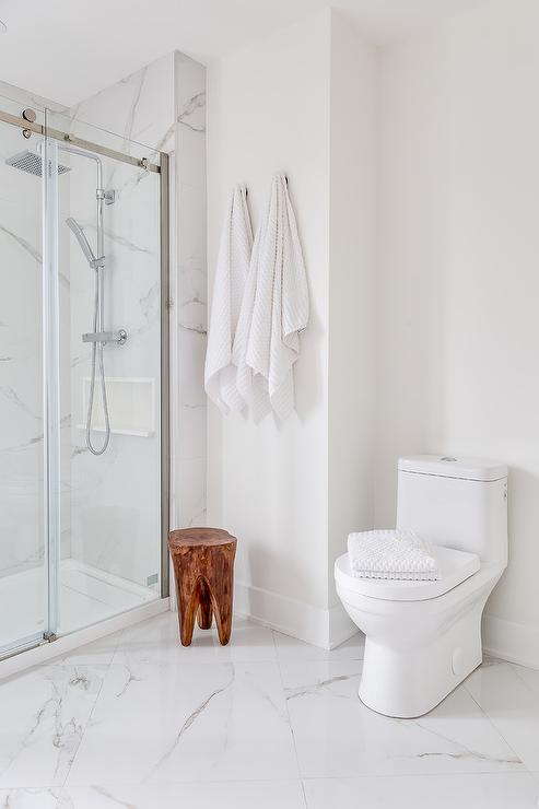 Diamond Pattern White Marble Bath Floor Tiles