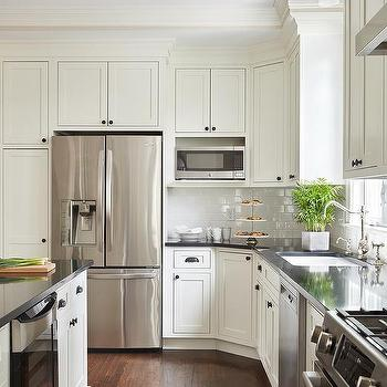 Polished Nickel Cabinet Hardware White Cabinets