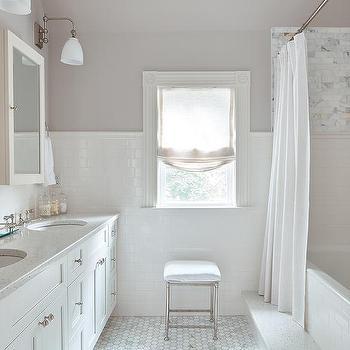 Light Gryay Bathroom Wall Paint Design Ideas