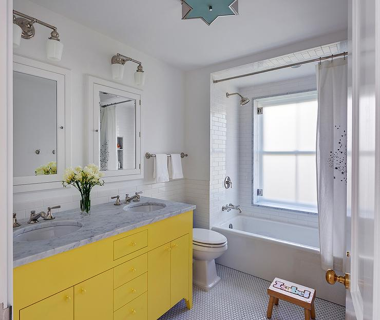 Outstanding Image Of Yellow And White Bathroom Decoration Ideas Lovely Modern
