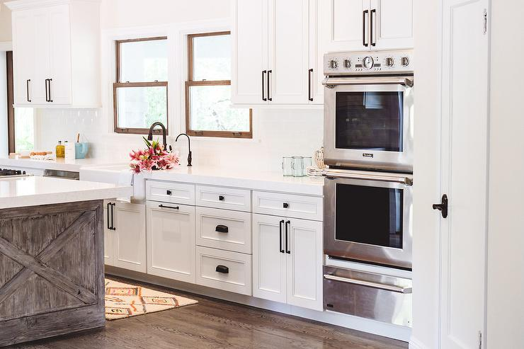 Stainless Steel Double Ovens Over Warming Drawer Transitional