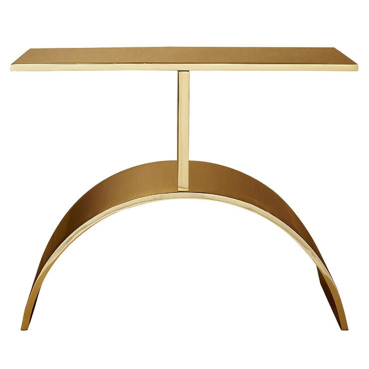 Curve Gold Steel Bent Side Table