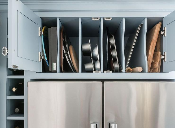 Ordinaire Vertical Pan Rack Cabinet Over Refrigerator