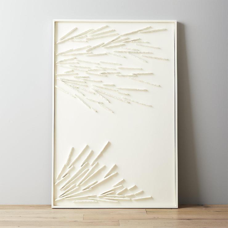 Rectangular White Branch Acrylic Wall Art