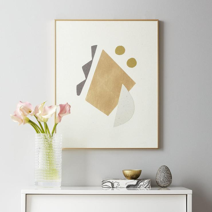 Geometric Cut Paper Framed Wall Art