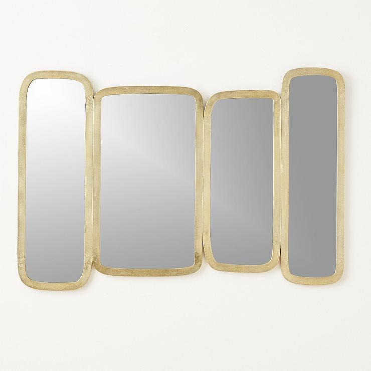 Jax Rectangles Brass Wall Mirror
