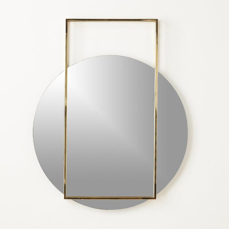 Pendulum Rectangle Frame Over Round Wall Mirror