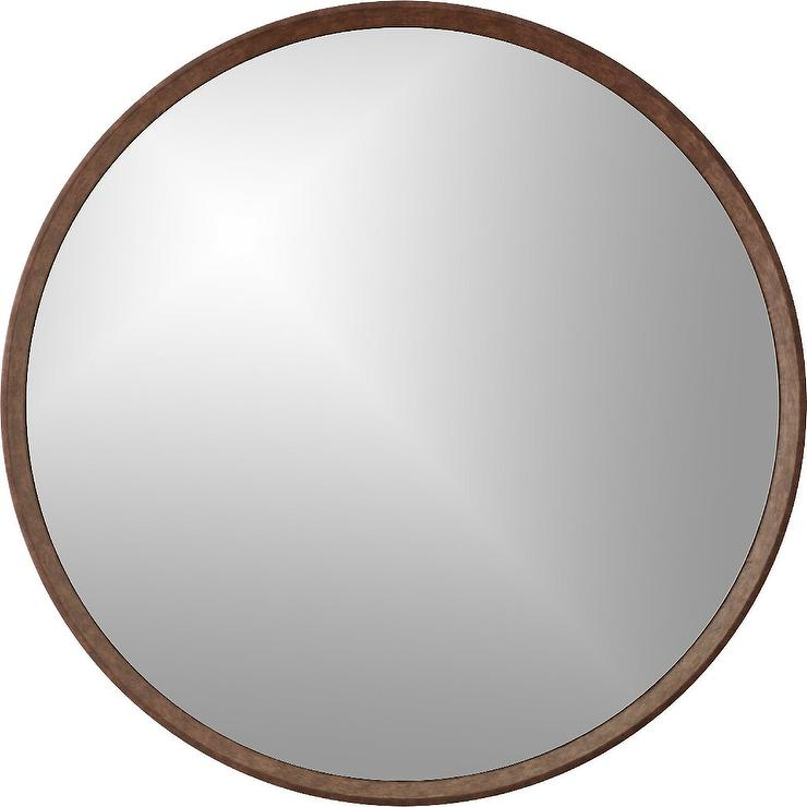 Brown creekside mirror design by currey and company for Miroir 90x90