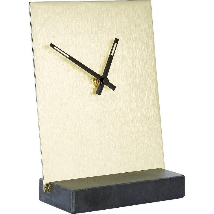 Well-known Hex White Marble Desk Clock JN74