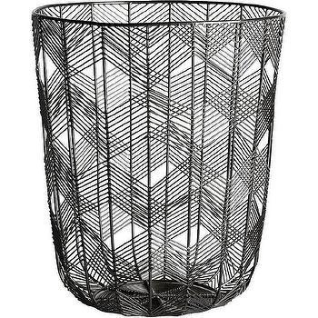 Wire Trash Basket | Modern Black Wire Trash Can Products Bookmarks Design