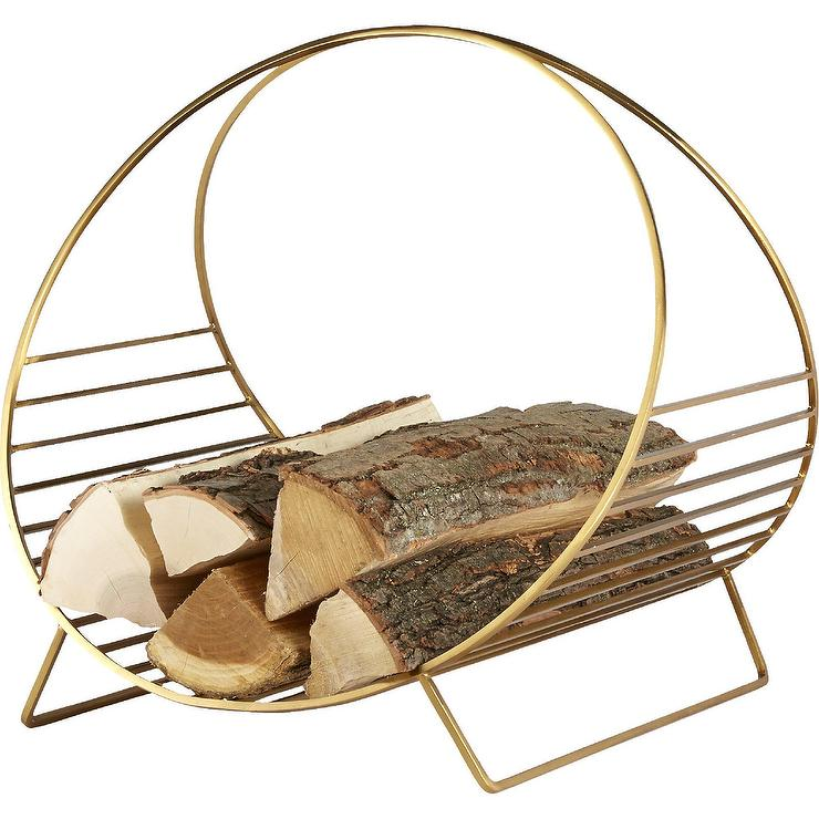 decorative indoor firewood rack outdoor fireplace wood.htm round chord brass iron log holder  round chord brass iron log holder